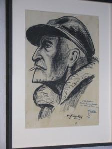 Un portrait du commandant Charcot fait par René-Yves Creston