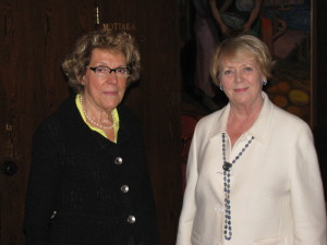 Charcot's granddaughter, Mme. Vallin-Charcot has visited Iceland a few times. Here, she is seen with former Icelandic president Vigdís Finnbogadóttir in September of 2010.